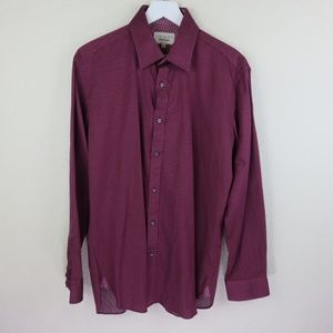 Ted Baker Burgundy Endurance Button Up Dress Shirt